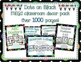 Multi-Colored Polka Dots on Black Themed MEGA Classroom Decor Bundle