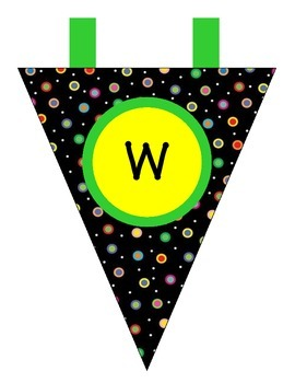 Colored Polka Dots on Black Welcome Banner