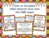 Multi-Colored Polka Dots on Chocolate Themed MEGA Classroom Decor Bundle