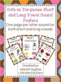 Short and Long Vowel Sound Posters - Multi-Colored Polka Dots on Chocolate