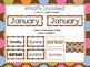 Calendar Kit - Multi-Colored Polka Dots on Chocolate Theme