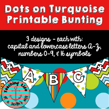 Dots on Turquoise Bunting
