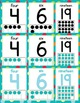 Number Posters 0-20 - Multi-Colored Polka Dots on Turquoise Themed