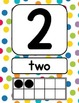 Dots on White Number Signs {with counting points}