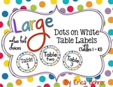 Table Signs: Dots on White