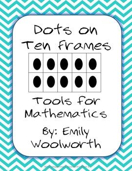 Dots on a 10 Frame (0-10) in Aqua Chevron
