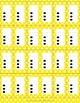 Dots on a 10 Frame (0-10) in Yellow Polka Dots
