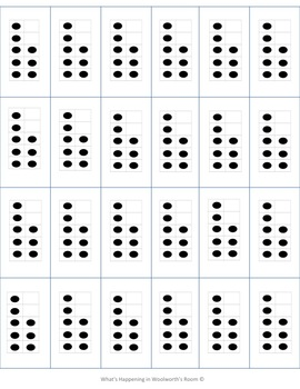 Dots on a 10 Frame (0-10) in white/blank background
