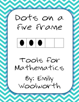 Dots on a 5 Frame (0-5) in Aqua Chevron