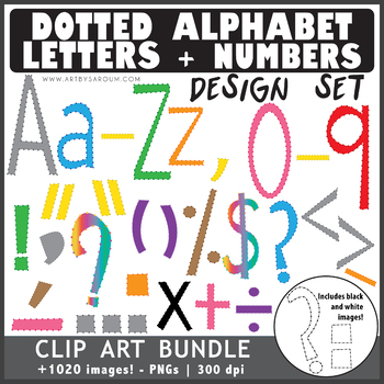 Dotted Alphabet + Math Symbols HUGE Bundle