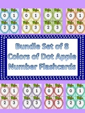Dotted Apple Number Flashcards 0-100 8 Color Bundle
