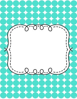 Dotted Binder Covers {EDITABLE}