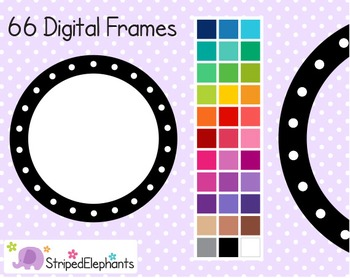 Dotted Circle Digital Frames