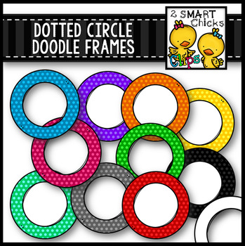 Dotted Circle Doodle Frames