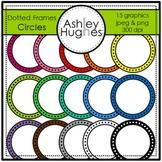 Dotted Circle Frames Clipart {A Hughes Design}
