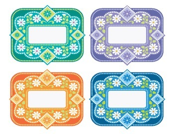 Dotted Classroom Labels and Signs