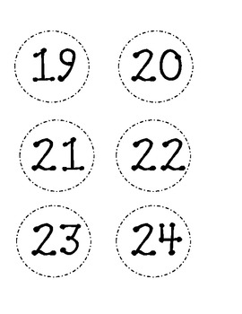 Dotted Classroom Numbers-Black