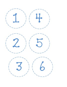 Dotted Classroom Numbers-Blue