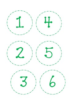 Dotted Classroom Numbers-Green