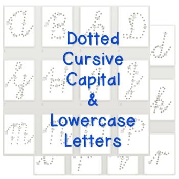 Dotted Cursive Handwriting Letters