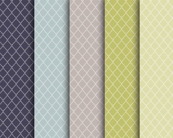 Dotted Diamond Papers, Digital Papers, Dotted Diamond Paper Set #132