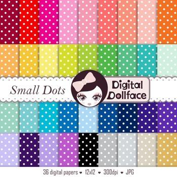 Dotted Digital Paper - Small Polka Dots