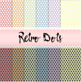 Dotted Digital Paper in Retro Colors