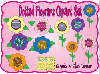 Dotted Flowers (Graphics for Commercial Use) FREE