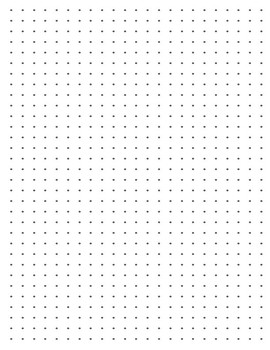 picture relating to Dot Grid Printable identified as Dot Grid Paper Worksheets Education Products TpT