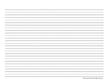 Dotted Lined Writing Paper