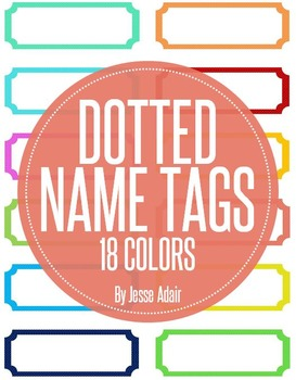 Dotted Name Tags FREEBIE