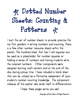 Dotted Number Practice: Counting and Patterns