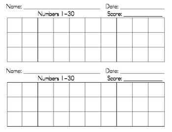 Dotted Numbers 1-30 Writing Strips by I HEART TEACHING | TpT