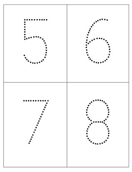 Dotted Numbers, Letters and Shapes