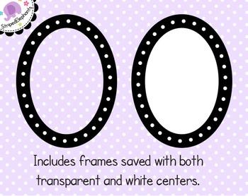 Dotted Oval Digital Frames