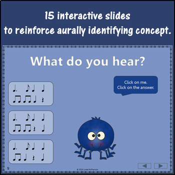 Dotted Quarter Interactive Music Game and Assessment {Dancing Spider}