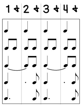 Dotted Quarter Note Diagrams