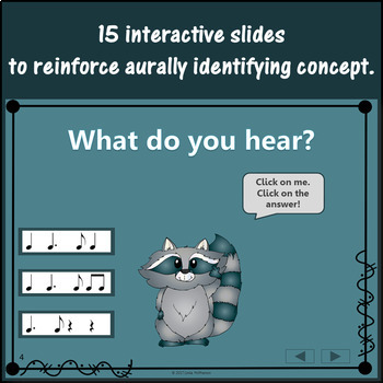 Dotted Quarter Note Interactive Music Game {Dancing Raccoon}