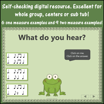 Dotted Quarter Note Interactive Music Game {Froggy Fun}