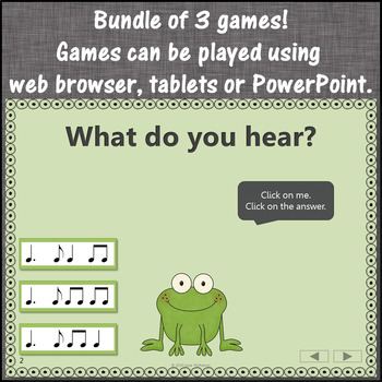 Dotted Quarter Note Interactive Rhythm Games and Assessment {Bundle}