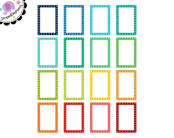 Dotted Rectangle Digital Frames