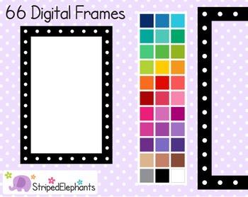 Dotted Rectangle Digital Frames