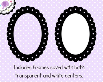 Dotted Scalloped Oval Digital Frames