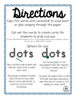 Dotted Sight Words - Fry's First 100 Words