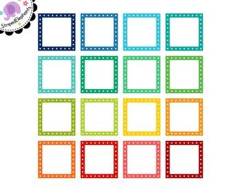Dotted Square Digital Frames