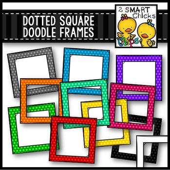 Dotted Square Doodle Frames