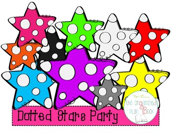 Dotted Stars Clip Art