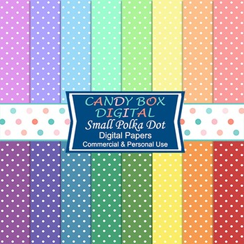 Rainbow Dotted Swiss Polka Dot Digital Background Papers