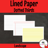 Dotted Thirds Writing Paper LANDSCAPE