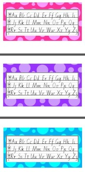 Dotted Thirds Alphabet Strip with Cats (VIC FONT)